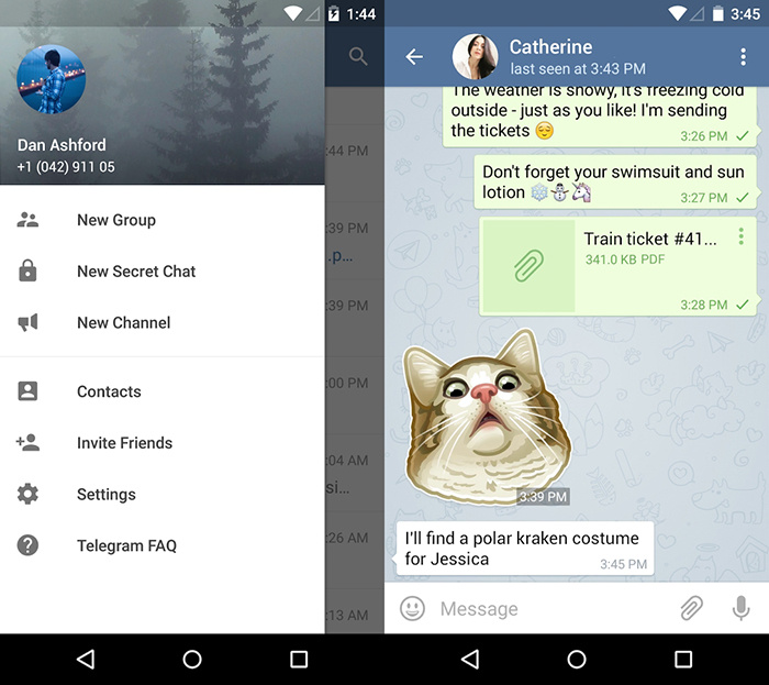 Telegram is updated with masks, stickers and creator of GIFs